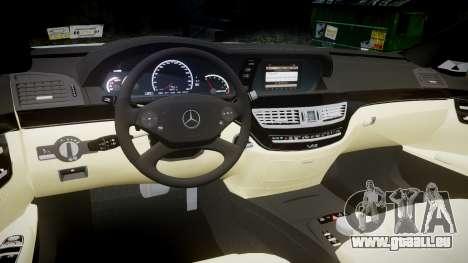 Mercedes-Benz S65 W221 AMG v2.0 rims2 pour GTA 4 est une vue de l'intérieur