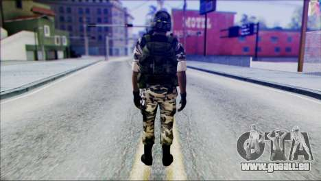 Hecu Soldier 2 from Half-Life 2 pour GTA San Andreas deuxième écran