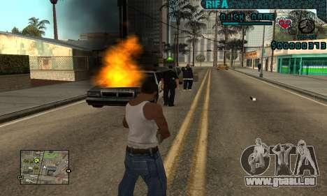 C-HUD Rifa Gang für GTA San Andreas her Screenshot