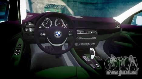 BMW 525d F11 2014 Police [ELS] pour GTA 4 est une vue de l'intérieur
