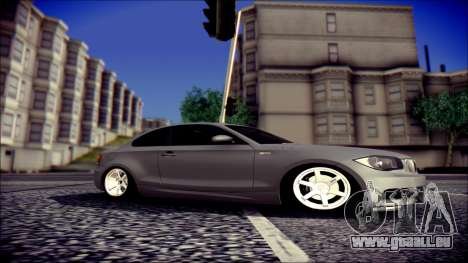 BMW 135i pour GTA San Andreas laissé vue