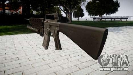 Gewehr M16A2 M203 sight2 für GTA 4 Sekunden Bildschirm