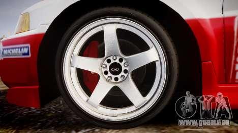 Mitsubishi Lancer Evolution VI Rally Edition pour GTA 4 Vue arrière