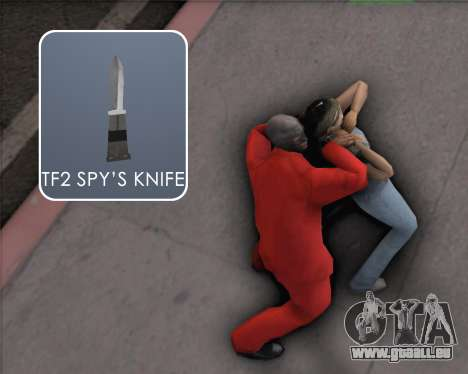 TF2 Spy Butterfly Knife für GTA San Andreas