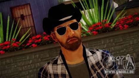 Gedimas Edward Skin HD pour GTA San Andreas troisième écran