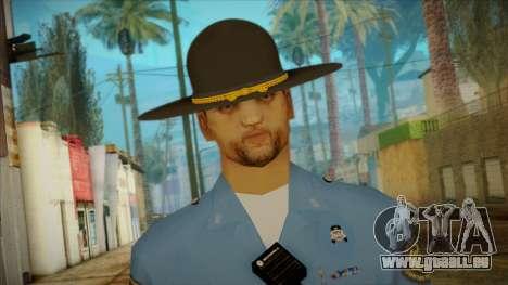 Missouri Highway Patrol Skin 2 pour GTA San Andreas troisième écran