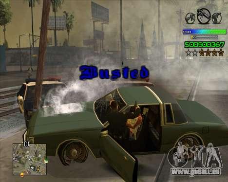 C-HUD Simple pour GTA San Andreas cinquième écran