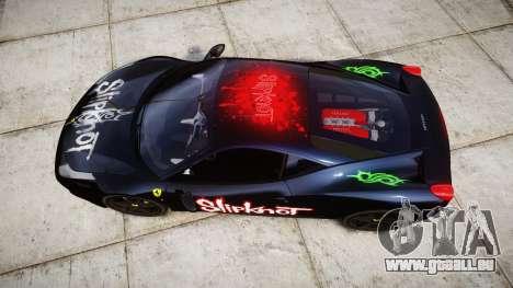 Ferrari 458 Italia 2010 v3.0 Slipknot für GTA 4 rechte Ansicht