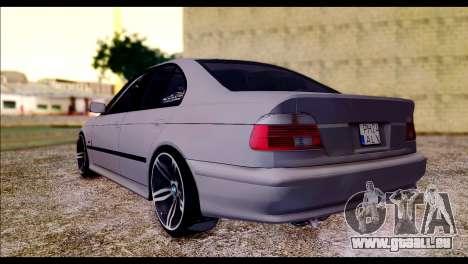 BMW 520d 2000 pour GTA San Andreas laissé vue
