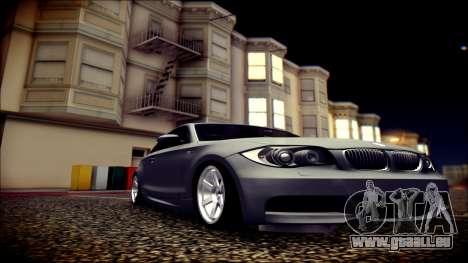 BMW 135i pour GTA San Andreas vue intérieure