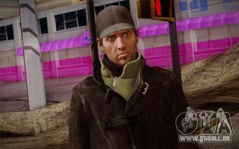 Aiden Pearce from Watch Dogs v8 für GTA San Andreas dritten Screenshot
