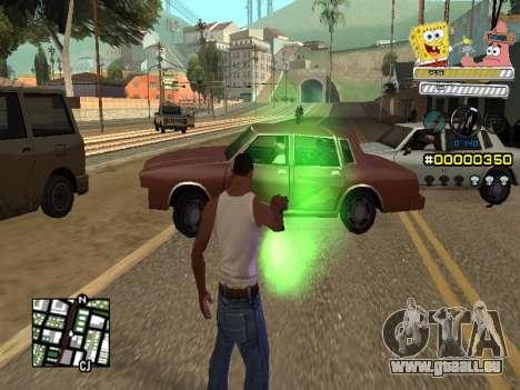 C-HUD Sponge Bob pour GTA San Andreas cinquième écran