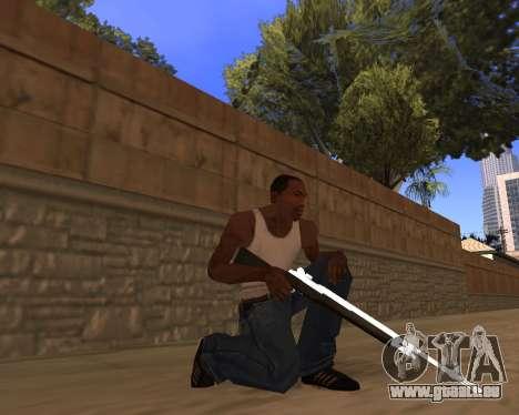 White Chrome Gun Pack pour GTA San Andreas sixième écran