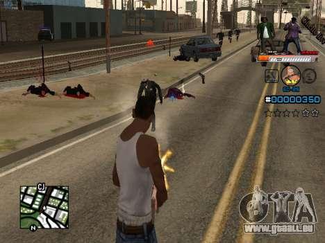 C-HUD Ghetto Live pour GTA San Andreas deuxième écran