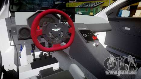 Aston Martin V12 Vantage GT3 2012 für GTA 4 Innenansicht