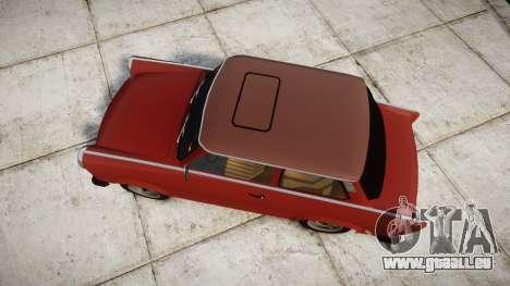 Trabant 601 deluxe 1981 pour GTA 4 est un droit