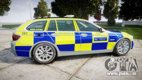 BMW 525d F11 2014 Police [ELS] für GTA 4 linke Ansicht