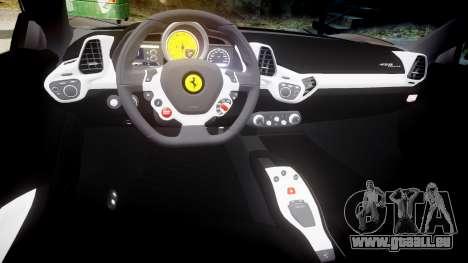 Ferrari 458 Italia 2010 v3.0 Slipknot pour GTA 4 est une vue de l'intérieur