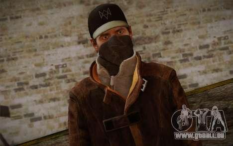 Aiden Pearce from Watch Dogs v6 pour GTA San Andreas troisième écran