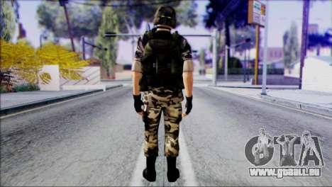 Hecu Soldier 1 from Half-Life 2 pour GTA San Andreas deuxième écran