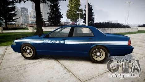 GTA V Vapid Police Cruiser Gendarmerie1 pour GTA 4 est une gauche