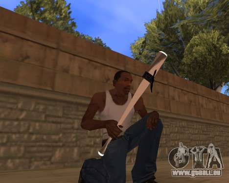 White Chrome Gun Pack pour GTA San Andreas troisième écran