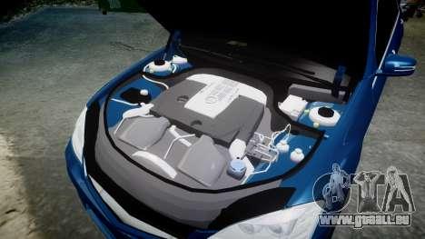 Mercedes-Benz S65 W221 AMG v2.0 rims2 pour GTA 4 vue de dessus