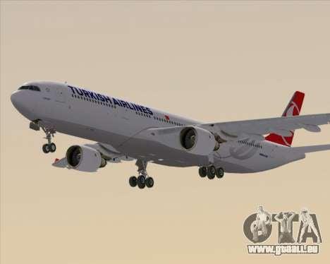 Airbus A330-300 Turkish Airlines pour GTA San Andreas sur la vue arrière gauche