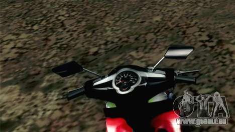 Jupiter Mx 2013 für GTA San Andreas zurück linke Ansicht