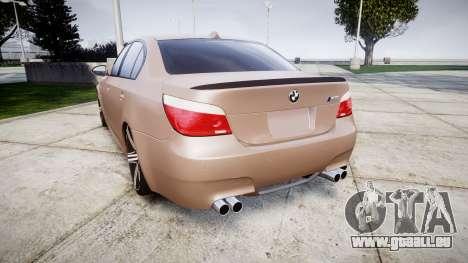 BMW M5 E60 v2.0 Wald rims für GTA 4 hinten links Ansicht