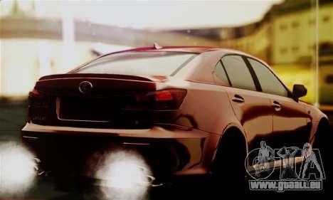 Lexus IS F pour GTA San Andreas laissé vue