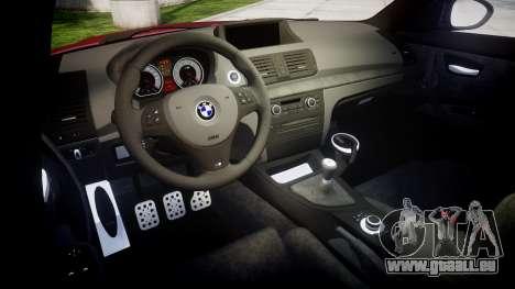 BMW 1M 2011 pour GTA 4 est une vue de l'intérieur
