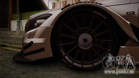 Mercedes-Benz C-Coupe AMG DTM pour GTA San Andreas sur la vue arrière gauche