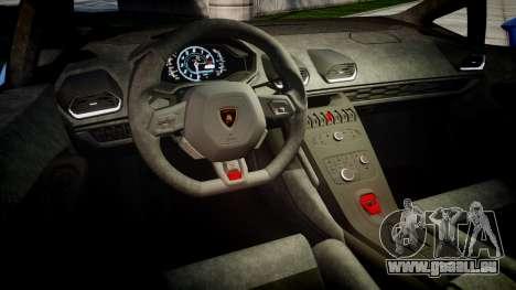 Lamborghini Huracan LP610-4 2015 pour GTA 4 est une vue de l'intérieur