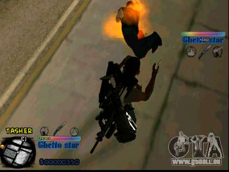 C-HUD Ghetto Star pour GTA San Andreas quatrième écran