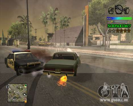 C-HUD Simple pour GTA San Andreas quatrième écran