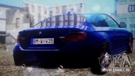 BMW 435i für GTA San Andreas linke Ansicht