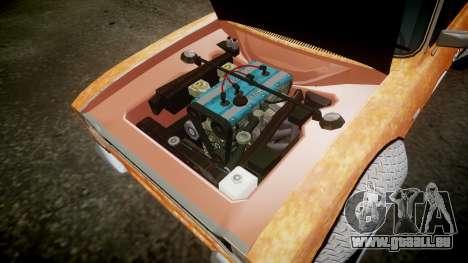 Ford Escort Mk1 Rust Rod v2.0 pour GTA 4 est une vue de l'intérieur