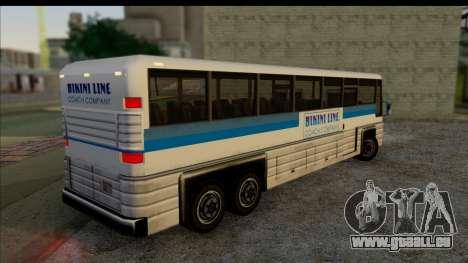 Entraîneur d'intérieur 3D pour GTA San Andreas laissé vue