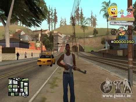 C-HUD Sponge Bob pour GTA San Andreas deuxième écran