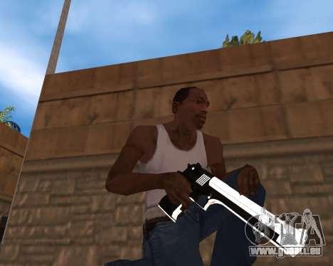 White Chrome Gun Pack pour GTA San Andreas deuxième écran