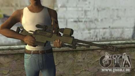 Piers Nivans Rifle from Resident Evil 6 pour GTA San Andreas troisième écran