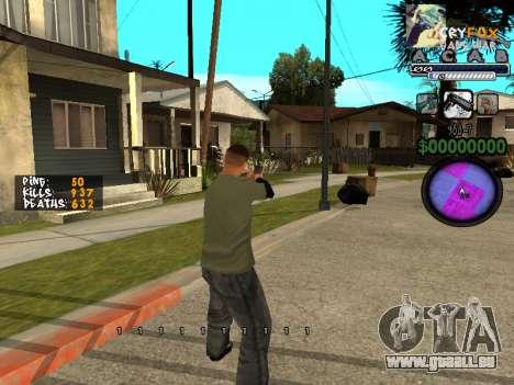 C-HUD. Avec. Et. pour GTA San Andreas deuxième écran