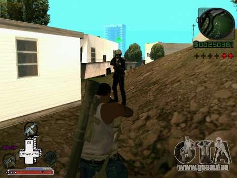 C-HUD Optiwka pour GTA San Andreas quatrième écran