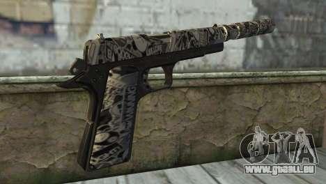 Nouveau Pistolet avec un Silencieux pour GTA San Andreas deuxième écran