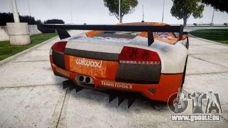 Lamborghini Murcielago LP640 R-GT pour GTA 4 Vue arrière de la gauche