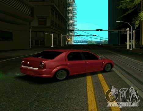 Renault Logan pour GTA San Andreas laissé vue