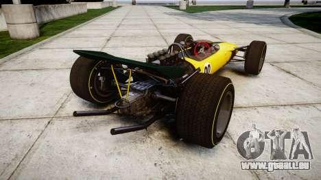 Lotus Type 49 1967 [RIV] PJ19-20 für GTA 4 hinten links Ansicht