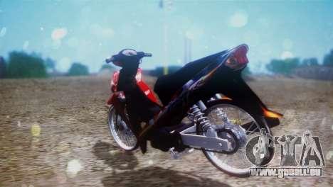 Yamaha Vega R 2007 für GTA San Andreas zurück linke Ansicht