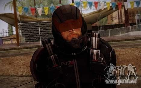 Shepard N7 Defender from Mass Effect 3 pour GTA San Andreas troisième écran
